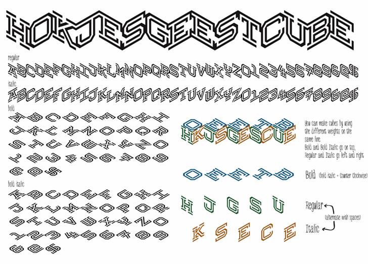 Hokjesgeestcube font by Tup Wanders