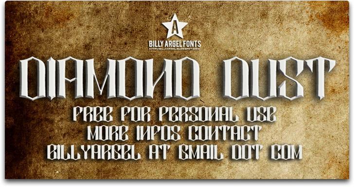 DIAMOND DUST font by Billy Argel