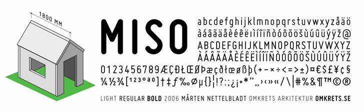 Miso font by Mårten Nettelbladt