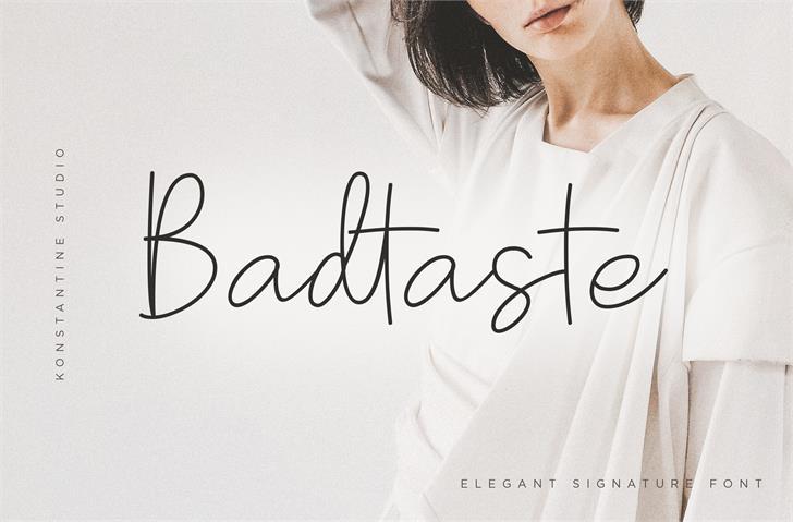 Badtaste DEMO font by Konstantine Studio