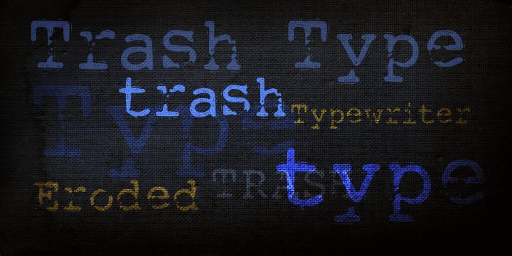 DK Trashtype font by David Kerkhoff