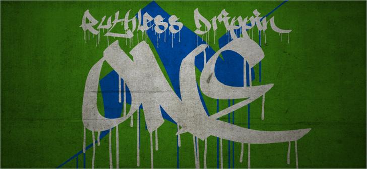 Ruthless Drippin ONE font by Måns Grebäck