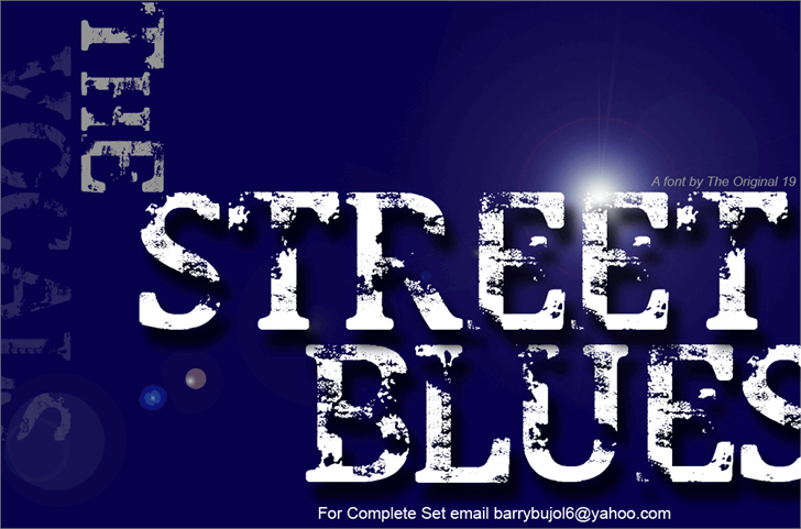 Street Blues font by The Original 19