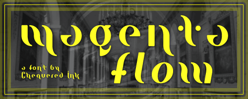 Magenta Flow font by Chequered Ink