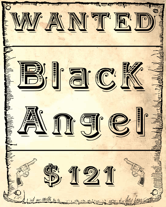 BlackAngel font by fontden