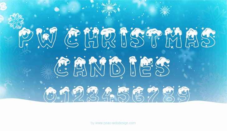 PWChristmascandies font by Peax Webdesign
