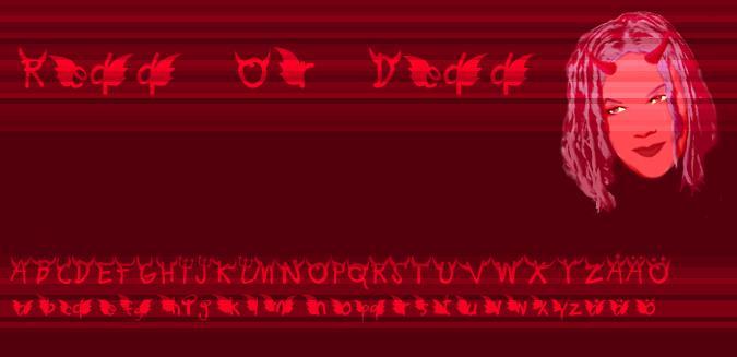 Redd or dedd font by Fontomen