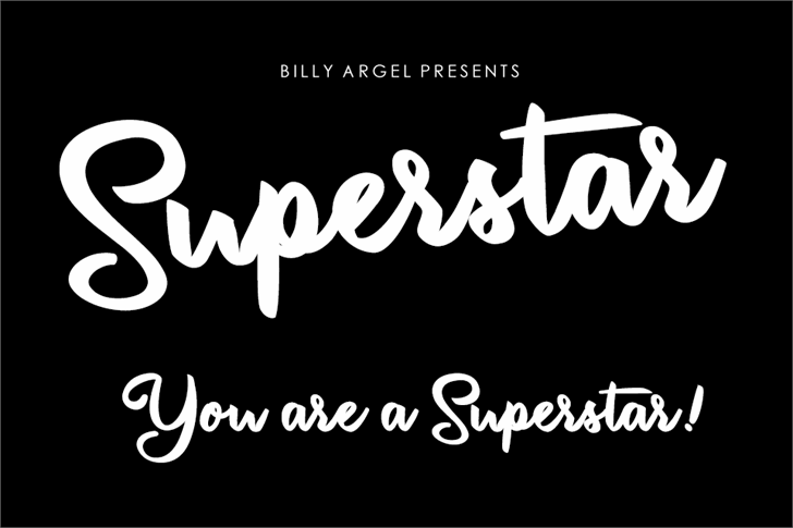 Superstar Personal Use font by Billy Argel