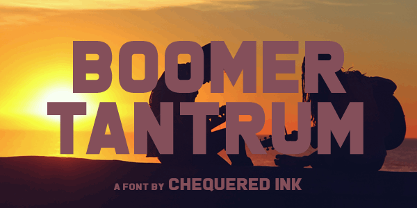Boomer Tantrum font by Chequered Ink