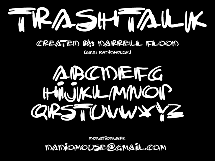 Trashtalk font by Darrell Flood