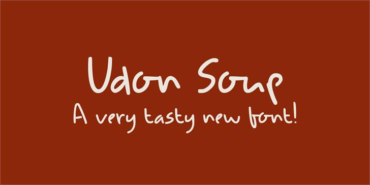 DK Udon Soup font by David Kerkhoff