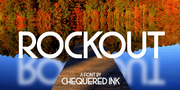 Rockout font by Chequered Ink