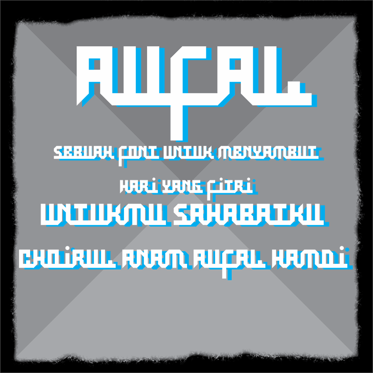 Aufal font by Murizar