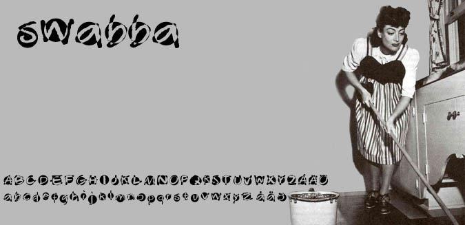 Swabba  font by Fontomen