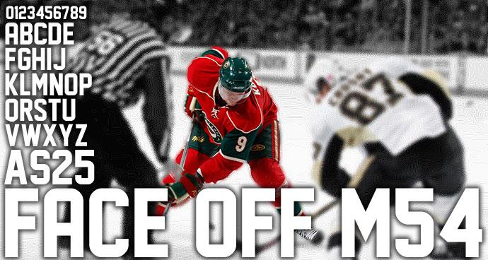 Face Off M54 font by justme54s