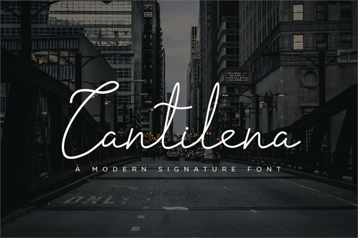 cantilena font by Bangtoyib