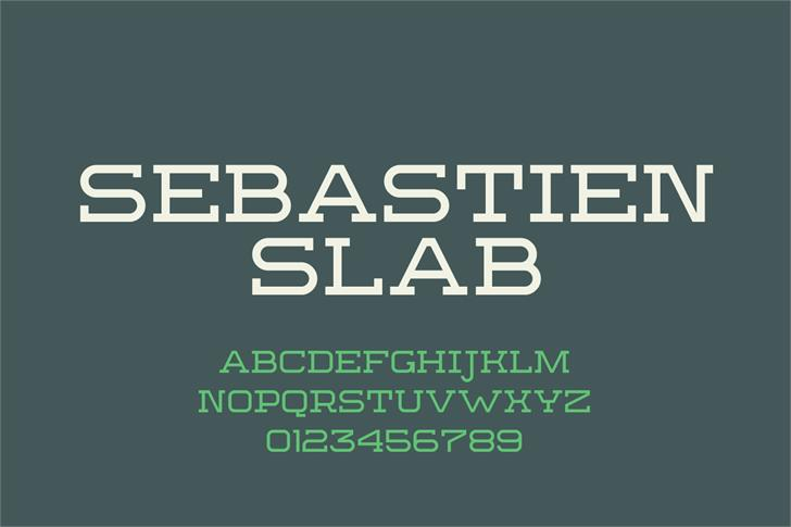 Sebastien Slab Demo font by Out Of Step Font Company