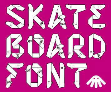 Skateboardfont by Honey & Death