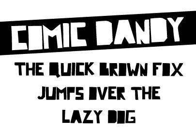 Comic Dandy font by Davy Meykens