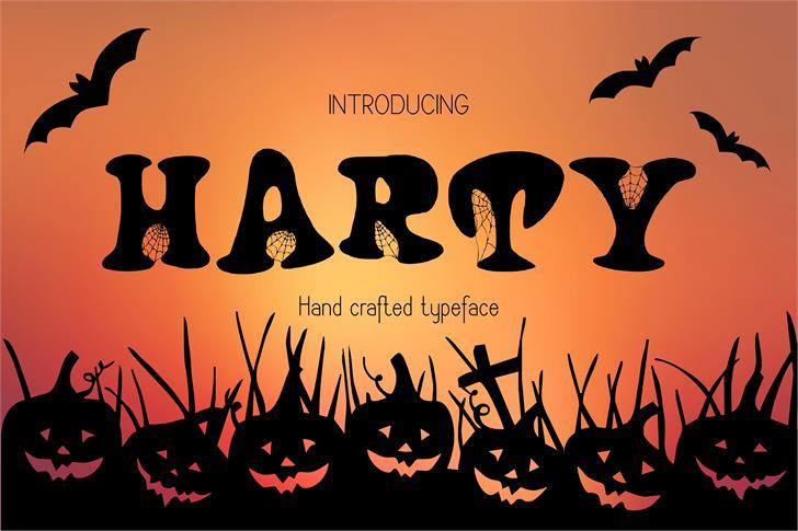 Harty font by Eva Barabasne Olasz