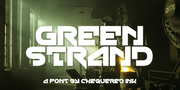Green Strand font by Chequered Ink