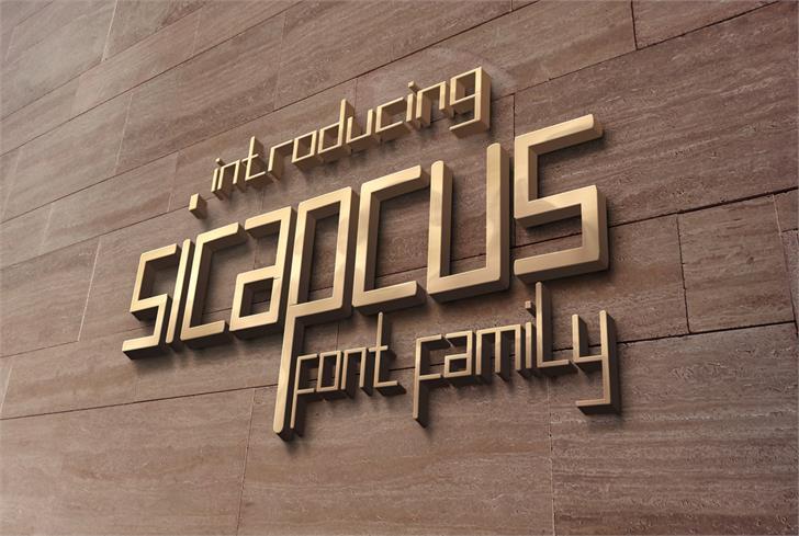 sicapcus font by nafkah