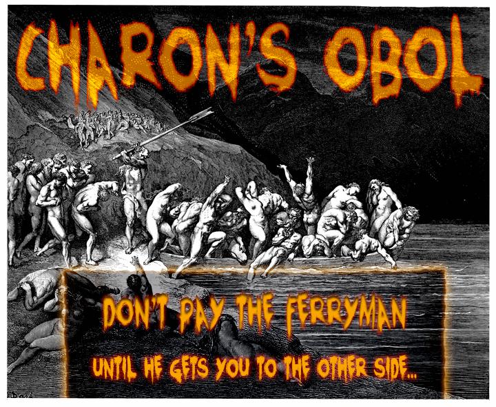 Charons Obol font by David Kerkhoff