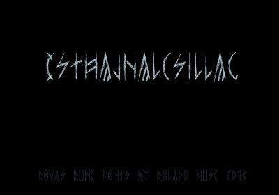 esthajnal font by Roland Huse Design