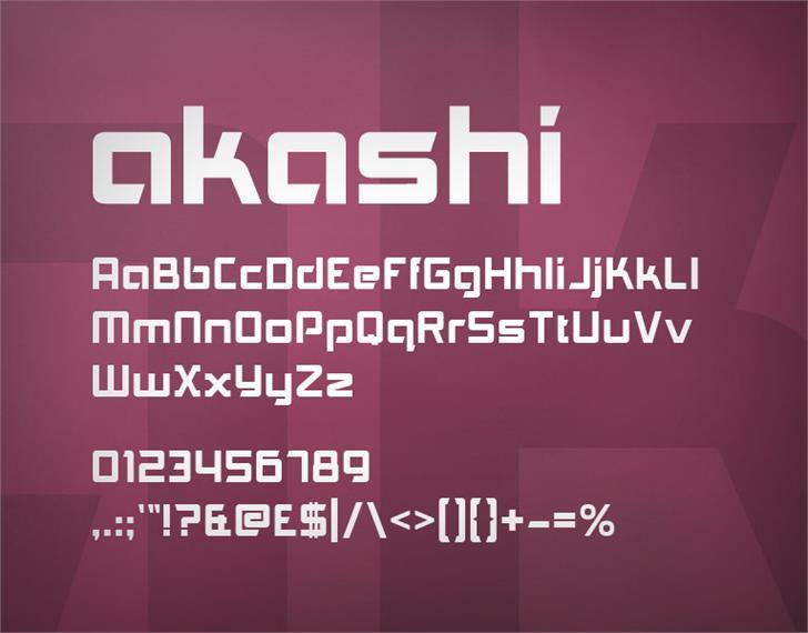 Akashi font by Ten by Twenty