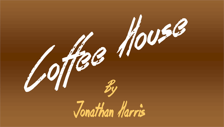 Coffee House font by Jonathan S. Harris