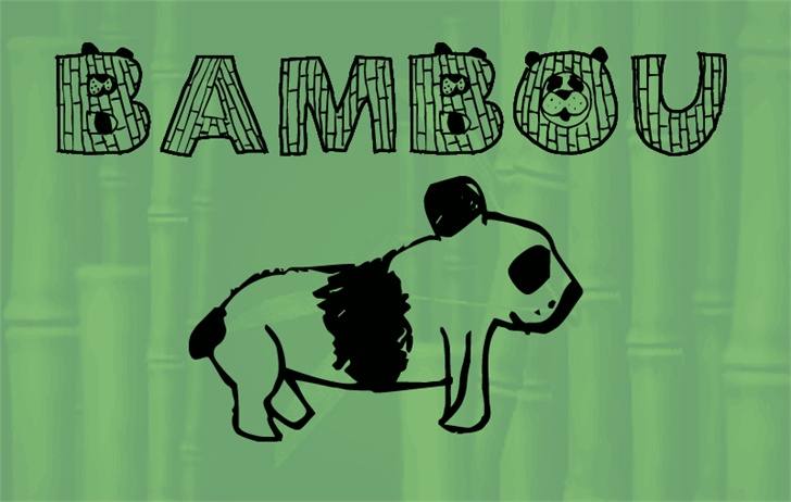 Bambou font by MarieFontes