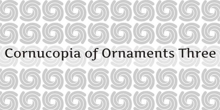 Cornucopia of Ornaments Three font by Intellecta Design
