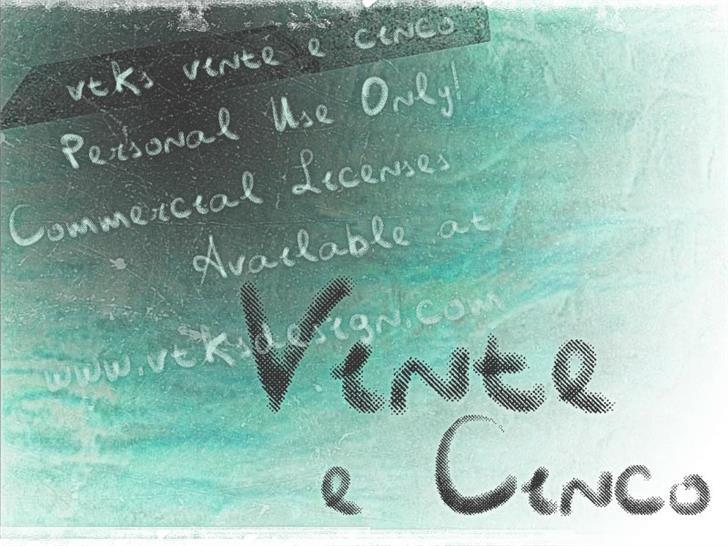 Vtks Vinte e Cinco font by VTKS DESIGN