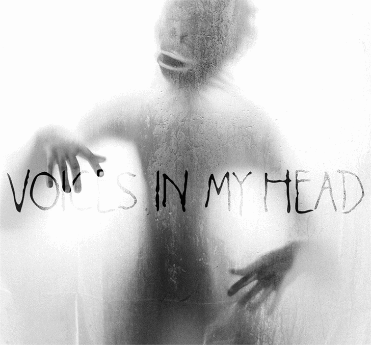 Voices in my Head font by Font Monger