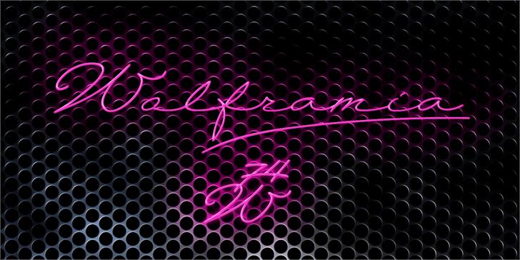Wolframia font by deFharo