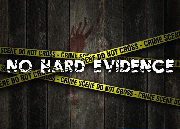 No Hard Evidence font by Font Monger