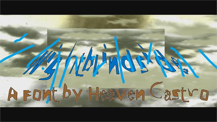 Nightblindside font by heaven castro