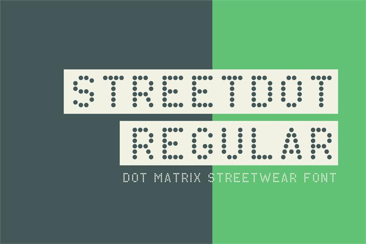 StreetDot Demo font by Out Of Step Font Company