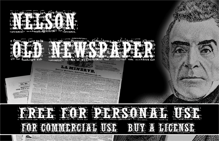 NelsonOldNewsPaper font by CloutierFontes