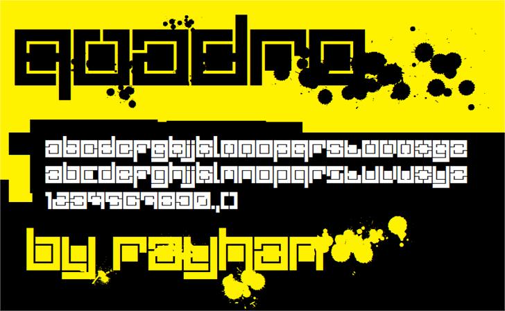 Quadro font by rayhan