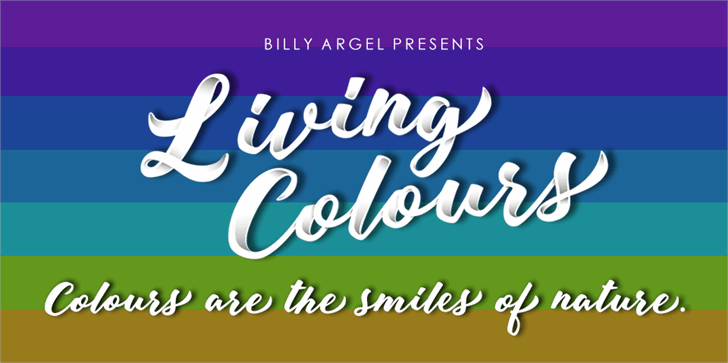 Living Colours Personal Use font by Billy Argel