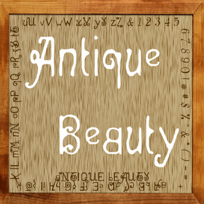 Antique Beauty font by Art Designs by Sue