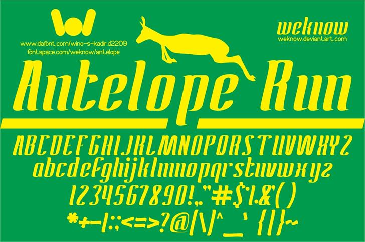 ANTELOPE font by weknow