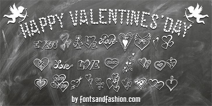 HAPPY VALENTINE'S DAY font by Fontsandfashion