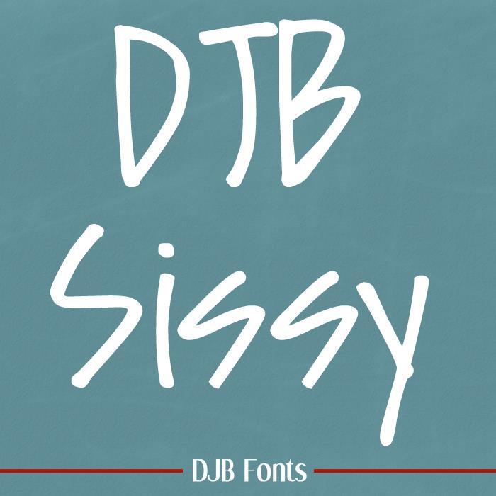 DJB Sissy font by Darcy Baldwin Fonts