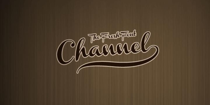 Channel font by Måns Grebäck
