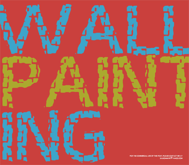 WALL PAINTING font by SAJI JOHNNY KUNDUKULAM