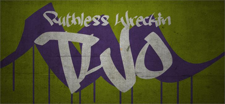 Ruthless Wreckin TWO font by Måns Grebäck