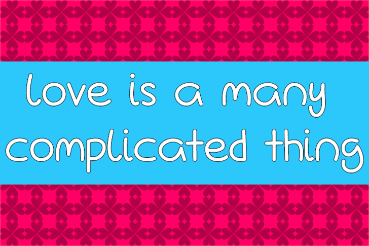 Love Is A Many Complicated Thin font by Misti's Fonts
