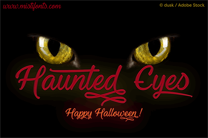 Haunted Eyes font by Misti's Fonts